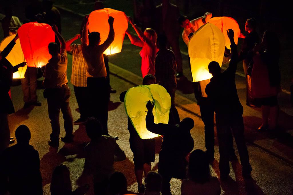 Lancer de lanterne