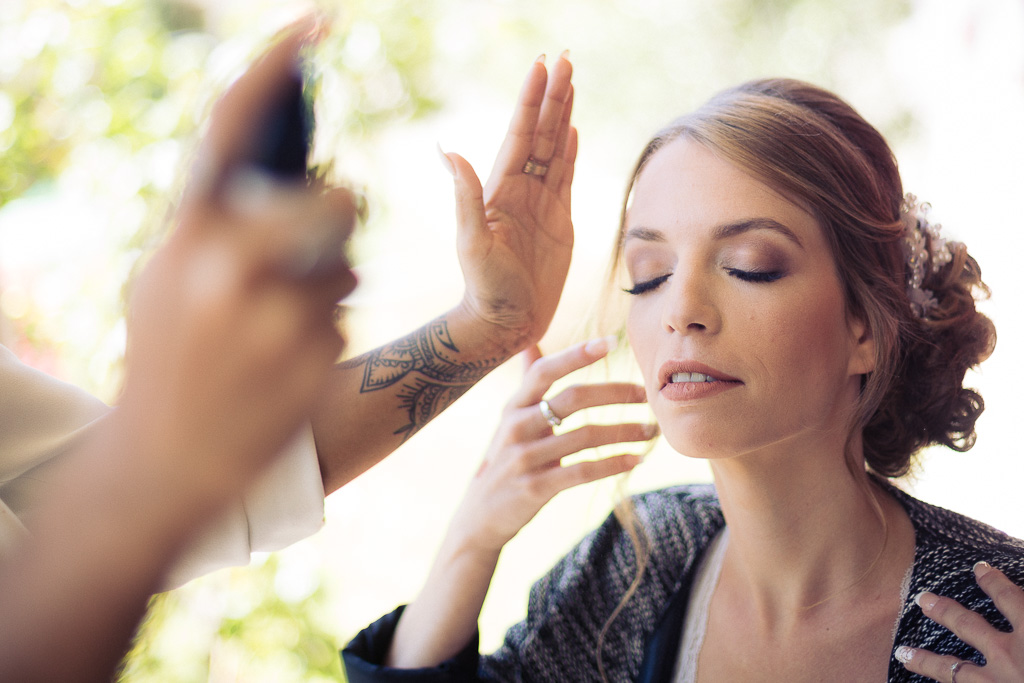 maquillage de la mariee