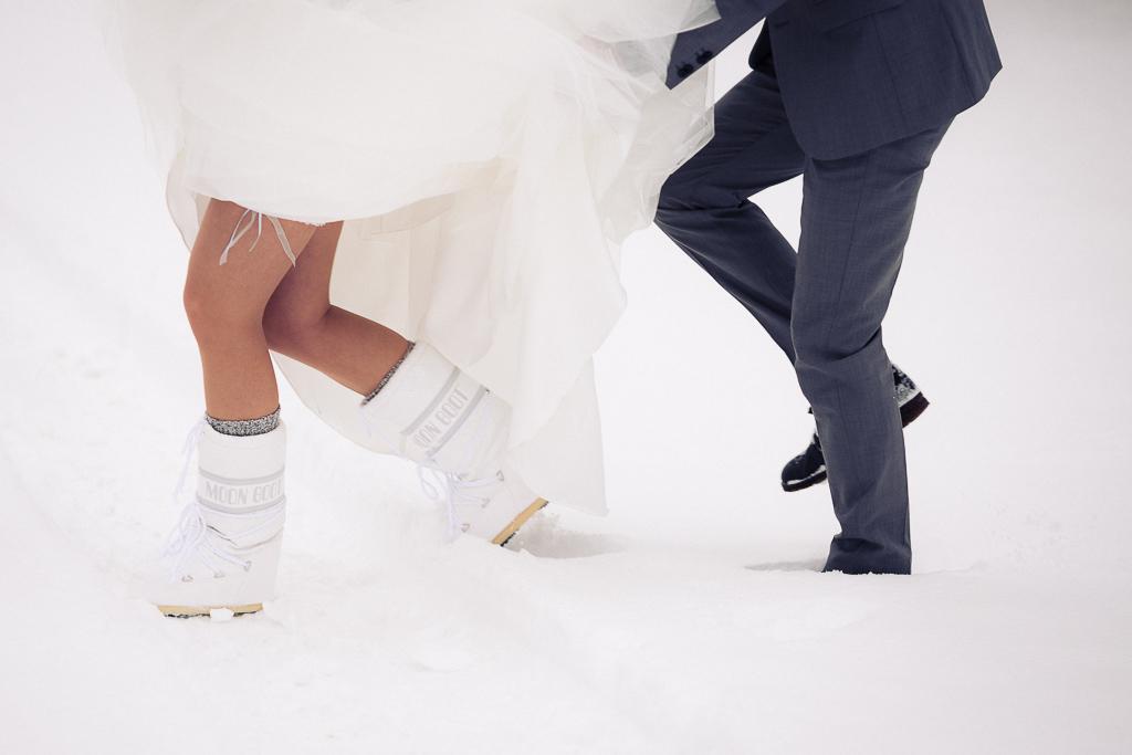 se marier dans la neige