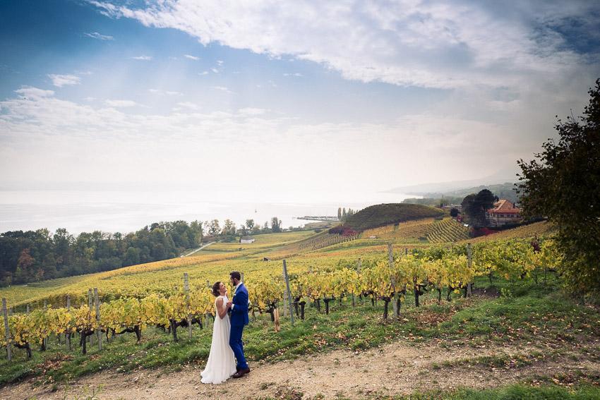 mariage dans les vignes de Bevaix