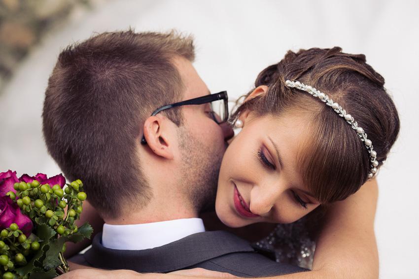photographie de mariage au bord du lac de Bienne