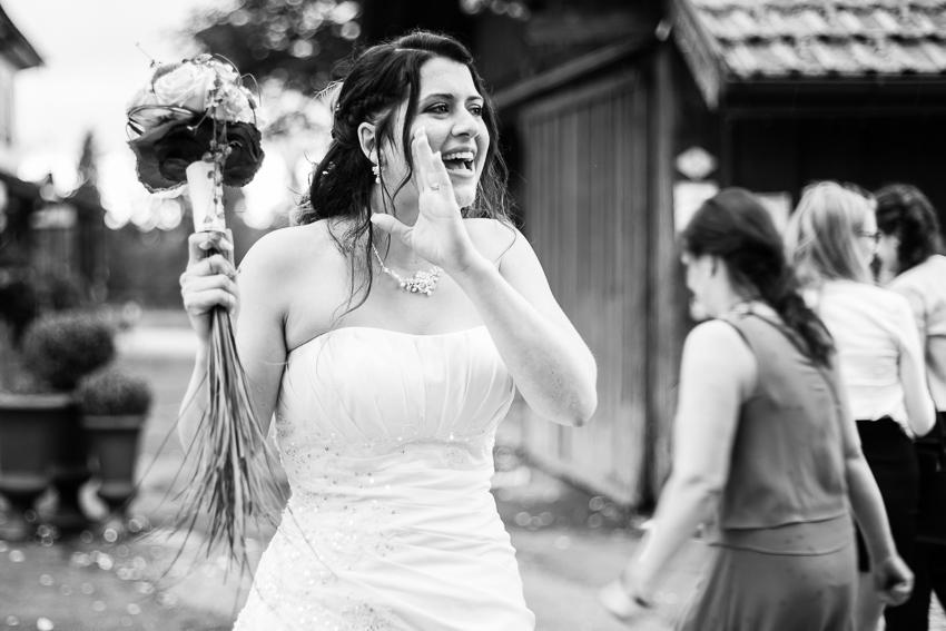 portrait spontanée de la mariée