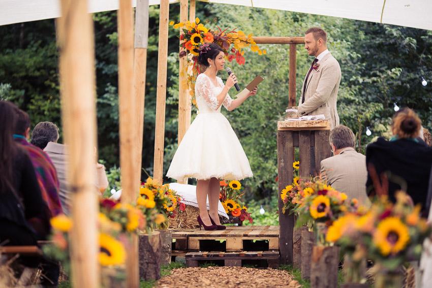mariage champetre échange des voeux