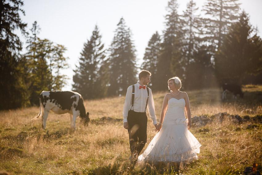 mariage champêtre dans la région de la chaux-de-fonds