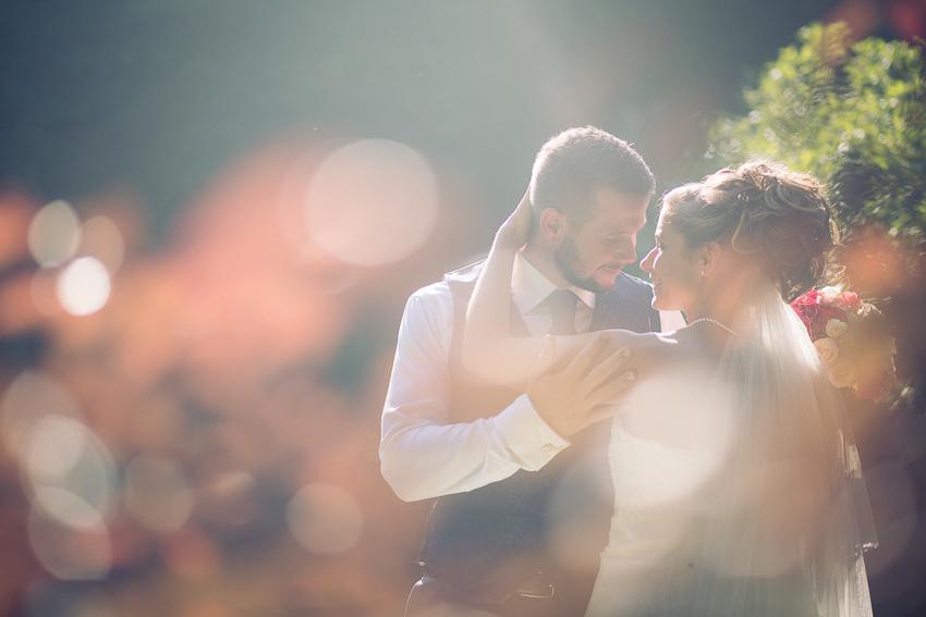 Photo romantique du couple