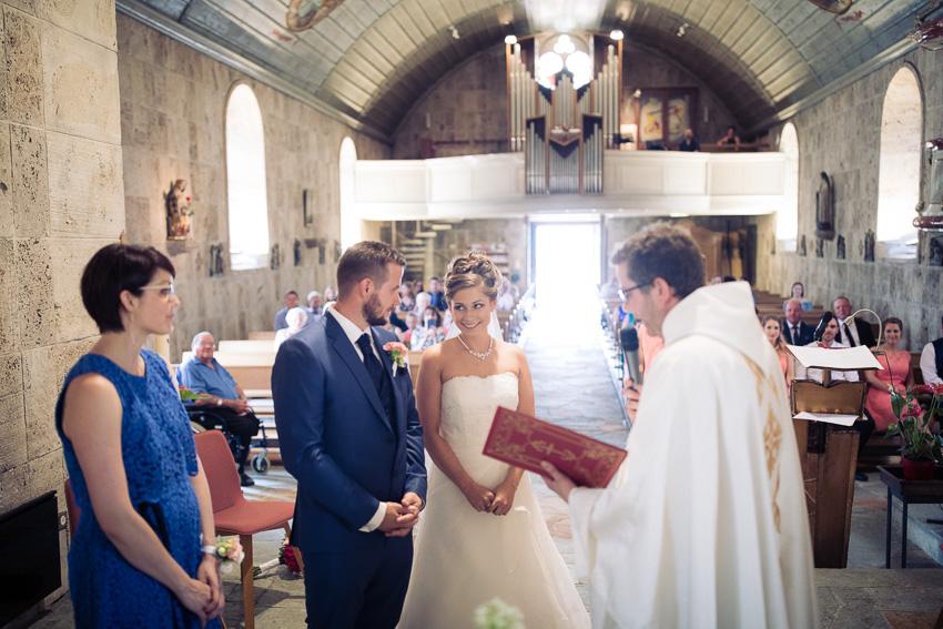 Mariage religieux à l'église de Matran