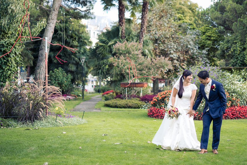 Photo de mariage spontanée