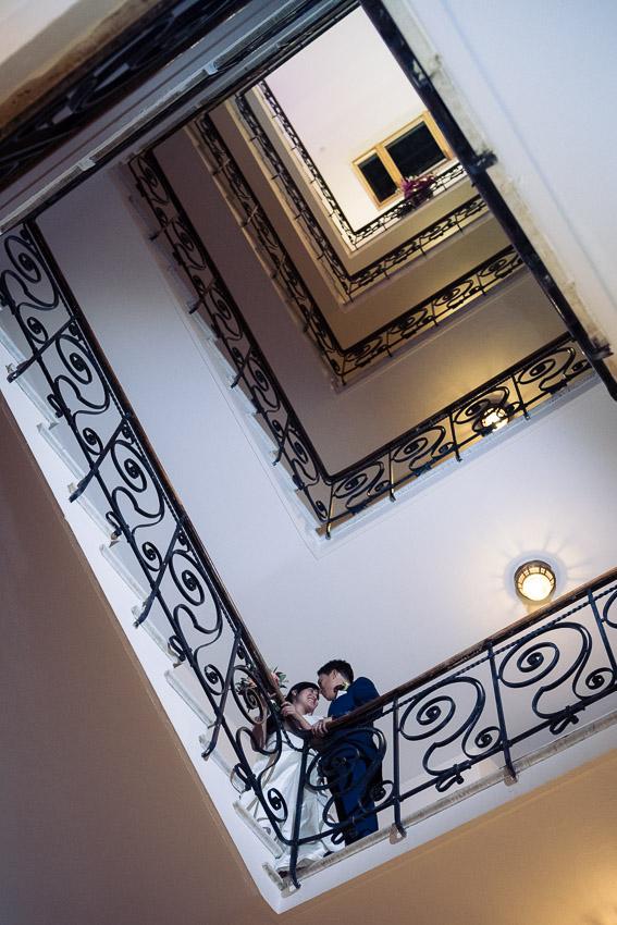 photo de mariage dans le Grand Hotel Suisse Majestic