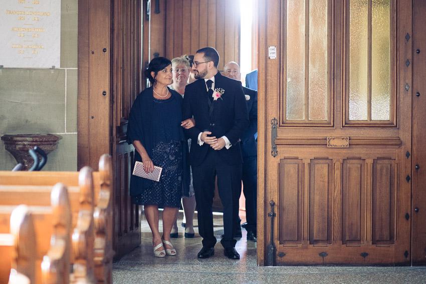 Mariage à l'église de Poliez-Pittet